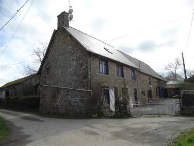 Traditional French Longere House in Countryside