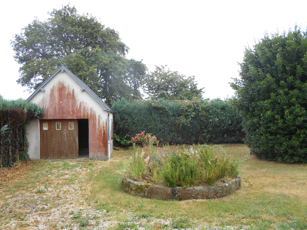 Rural House with Cider Press in Garden